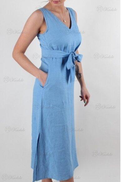 Ilga lininė suknelė 4