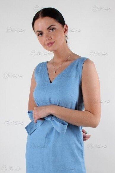 Ilga lininė suknelė