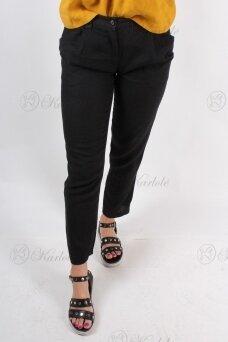 Juodos lininės kelnės